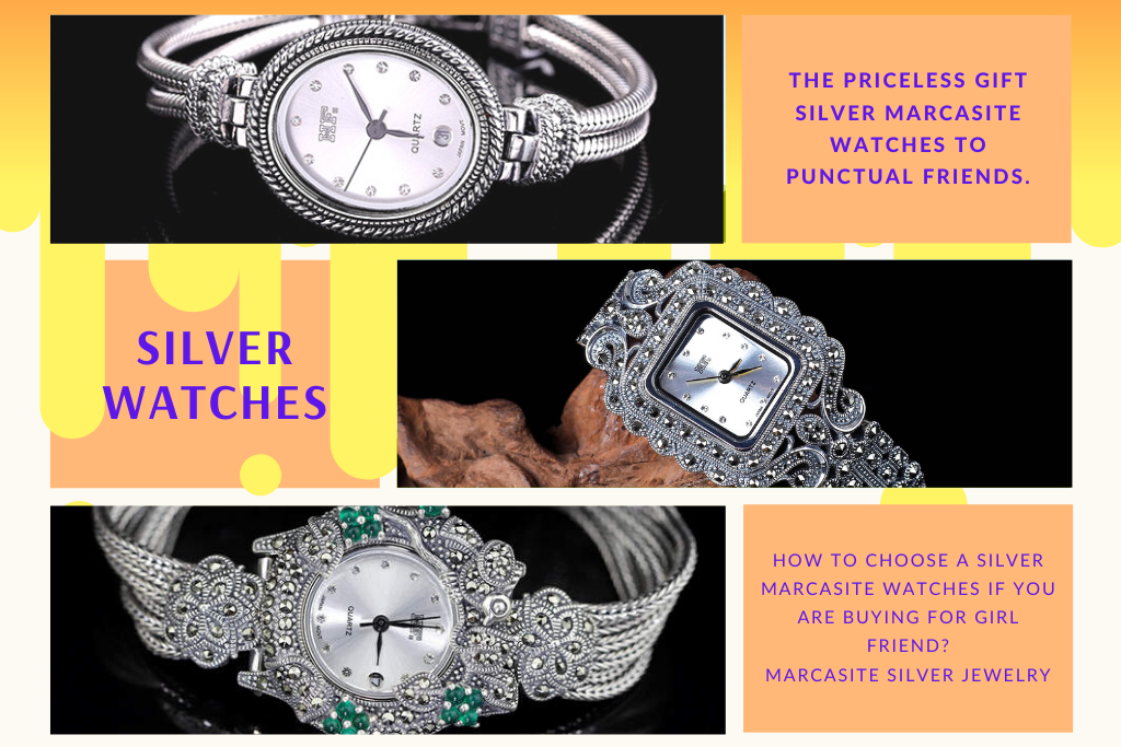 Silver Watches – The Priceless Gift silver marcasite watches to Punctual Friends.